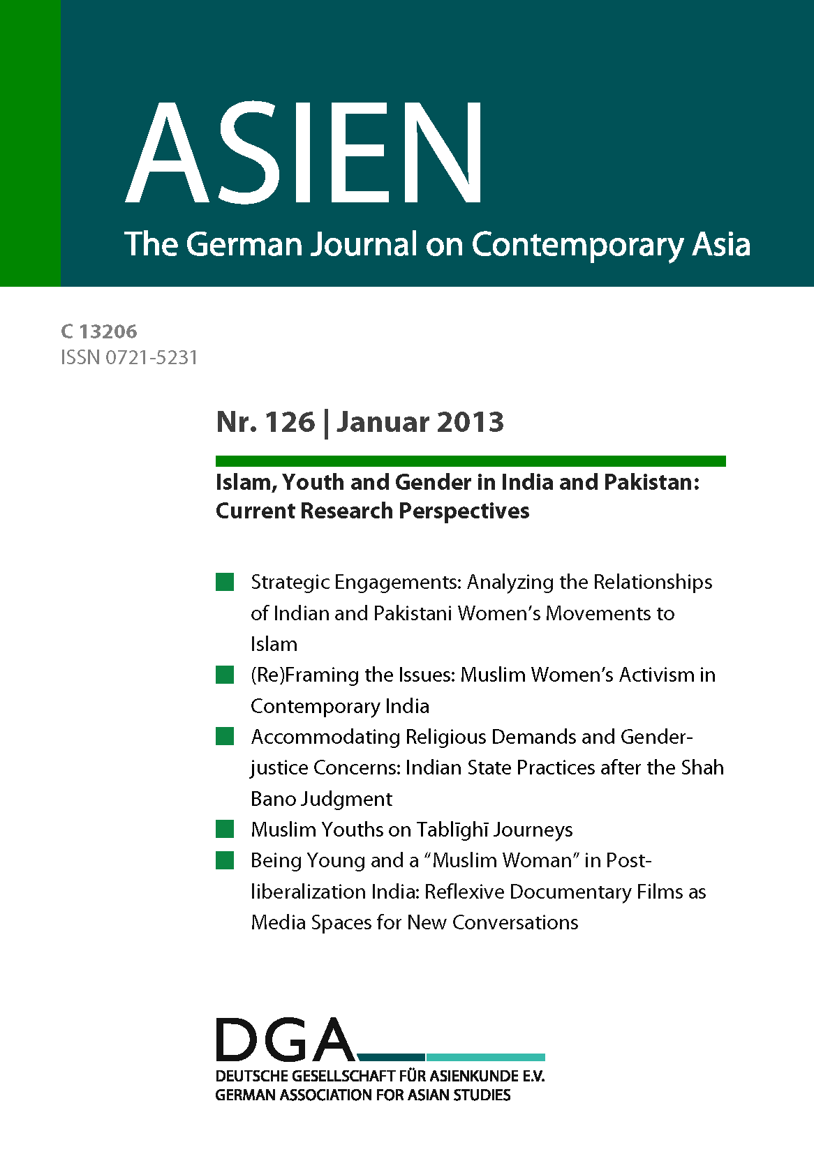 Ausgabe « ASIEN – The German Journal on Contemporary Asia
