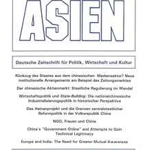 ASIEN 80 (Juli 2001)